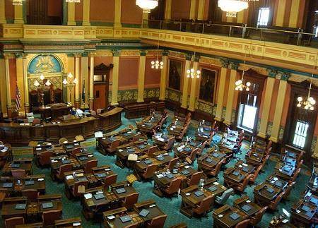 Inside the state Capitol, Lansing, Michigan