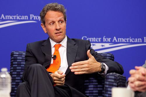 U.S. Treasury Secretary Timothy Geithner will visit the Detroit Economic Club today.