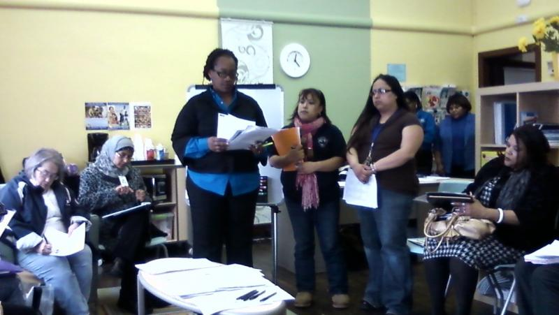 Parents at Detroit's Priest Elementary School learn about the district's plan to close and charterize schools