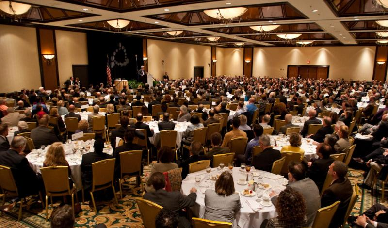 Around 700 people attend the sold-out luncheon Monday.