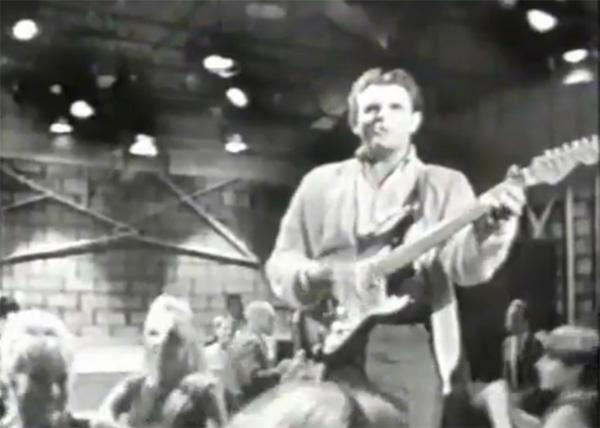 "Del Shannon performing on the TV show ""The Golden Age of Rock And Roll."""