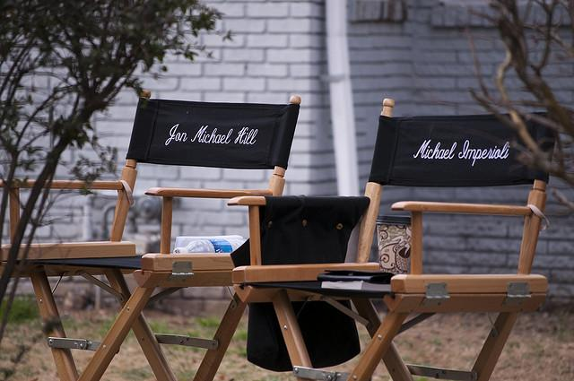 Detroit 1-8-7: The star's chairs are captured in this photo. The kicker? The photo was taken in Atlanta, GA while the crew was on a shoot there. The magic of Hollywood.