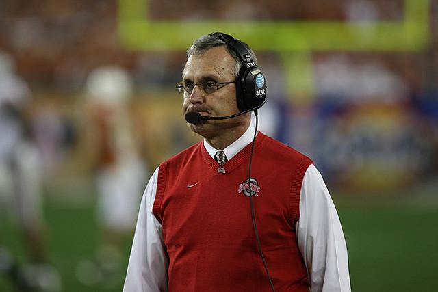 The NCAA alleges that Ohio State football coach Jim Tressel is guilty of ethical misconduct.