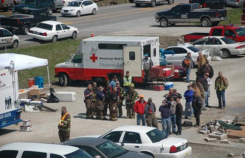 Red Cross responds to a tornado that hit Joplin in 2008. This year's tornado is the deadliest in more than 60 years.