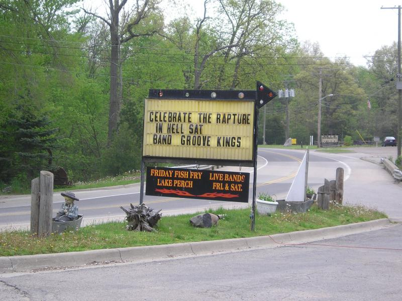 The Dam Site Inn in Hell, MI, is prepared for end-of-the-world visitors.