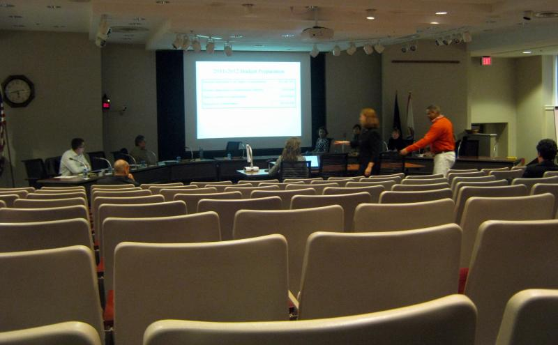 There were more reporters and school officials than members of the public at a public hearing on Grand Rapids Public Schools budget for the 2011-2012 school year.