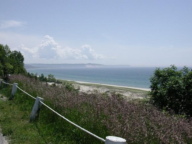 A view of Lake Michigan from near Frankfort, Michigan