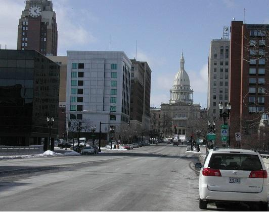 street facing Michigan capital