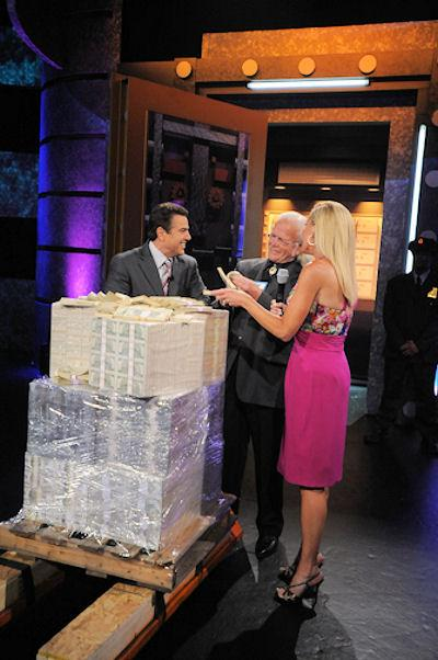 """Leroy Fick of Auburn winning a $2 million prize after competing in the third episode of """"Make Me Rich!"""", the Lottery game show."""