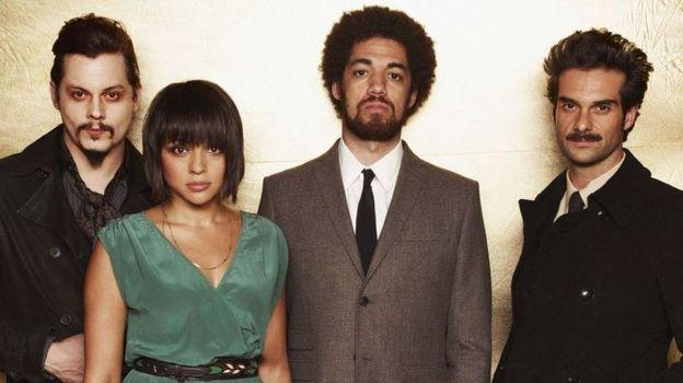 Left to right: Jack White, Norah Jones, Danger Mouse (a.k.a. Brian Burton), Daniele Luppi.