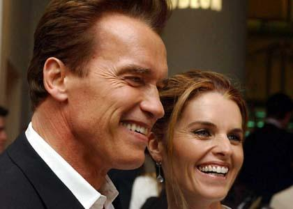 Arnold Schwarzenegger and Maria Shriver. Schwarzenegger revealed that he fathered a child with another woman.