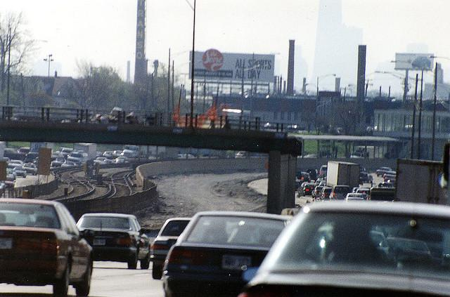 Commuting in Chicago. Gas prices are rising, but driving habits don't seem to be changing as drastically as they did in 2008.