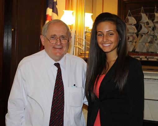 Ola Kaso, (right), poses with Michigan U.S. Senator Carl Levin.
