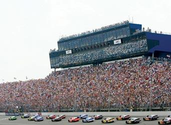 Michigan International Speedway in Brooklyn has a grandstand  capacity of 106,000 people. Officials say ticket sales better so far this year, after several lackluster years.