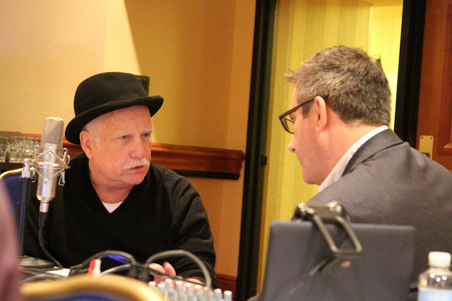 Actor Richard Dreyfuss (left) brings drama to the iTunes user agreement.