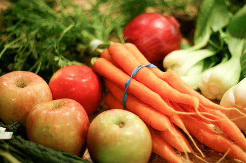 Eat more locally-grown, fresh fruits and vegetables