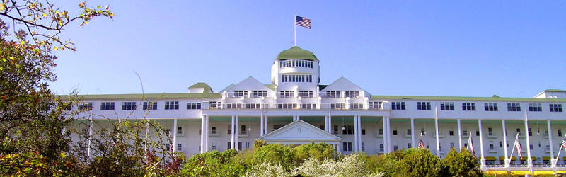The Grand Hotel on Mackinac Island.