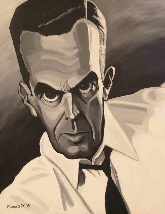 Edward R. Murrow through the eyes of artist John Tebeau.