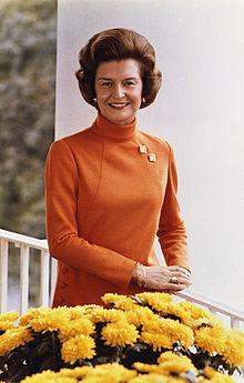 Betty Ford, during her time as first lady