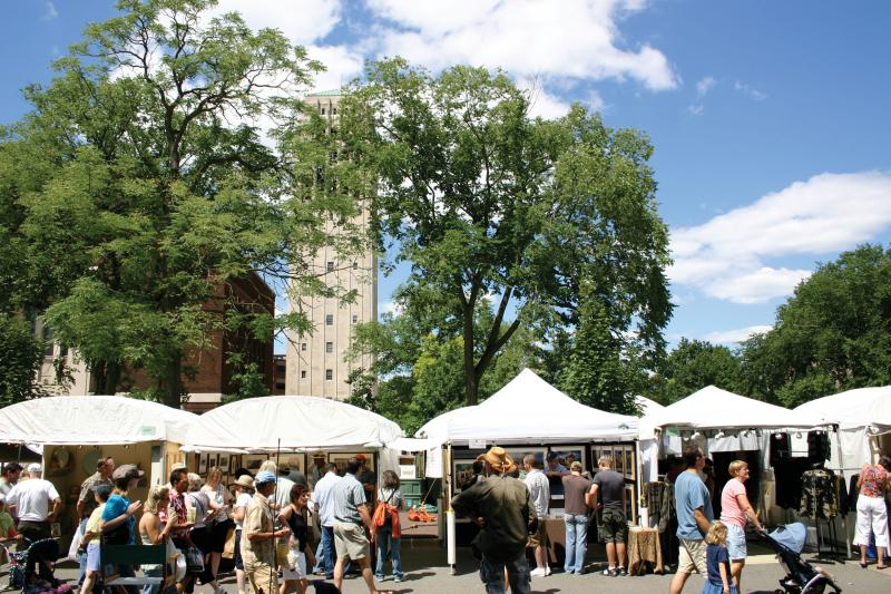 Crowds at the Ann Arbor Street Art Fair.