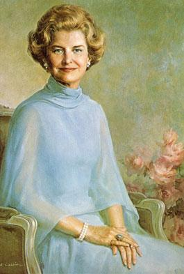 Portrait of Betty Ford. A new cancer program in Grand Rapids is named after the former first lady.