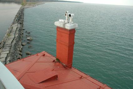 This could be your view if you put in the winning bid on the Fairport Harbor West Breakwater Light on Lake Erie.