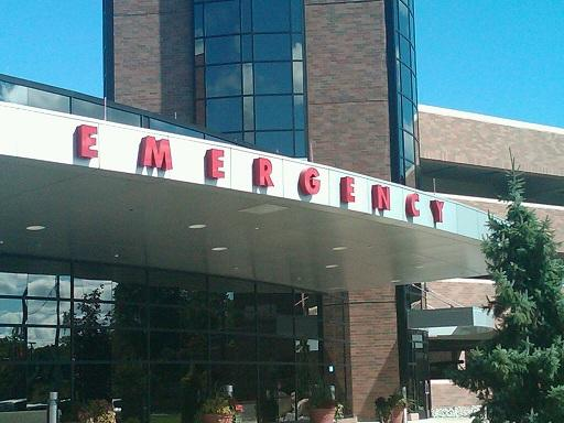 A hospital emergency room entrance.