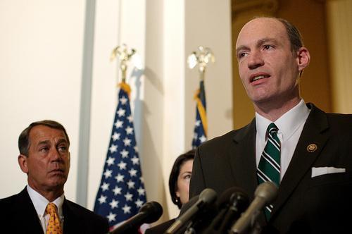 Reports say Republican Congressman Thaddeus McCotter (far right) will announce a presidential bid later today.