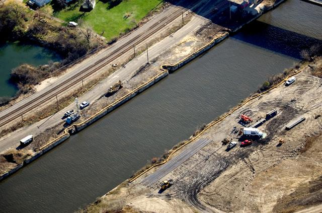 The electric barrier is located on the Chicago Ship and Sanitary Canal in Illinois. The barrier is supposed to keep asian carp out, but is it working?