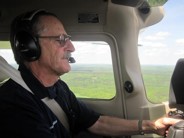 LightHawk volunteer Bob Keller donates his Cessna and flight time for environmental causes.