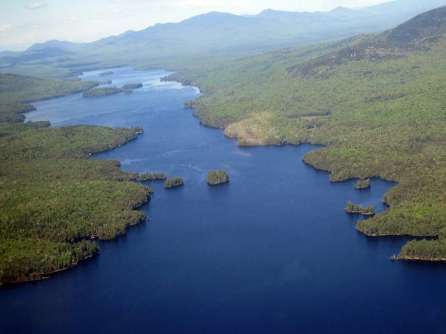 The view from the air can give policymakers and potential donors the big picture about the natural world… (a shot of Long Lake in the Adirondacks)