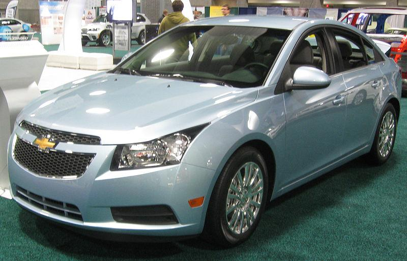 GM says its Chevrolet Cruze compact led its sales gain for the month of June.
