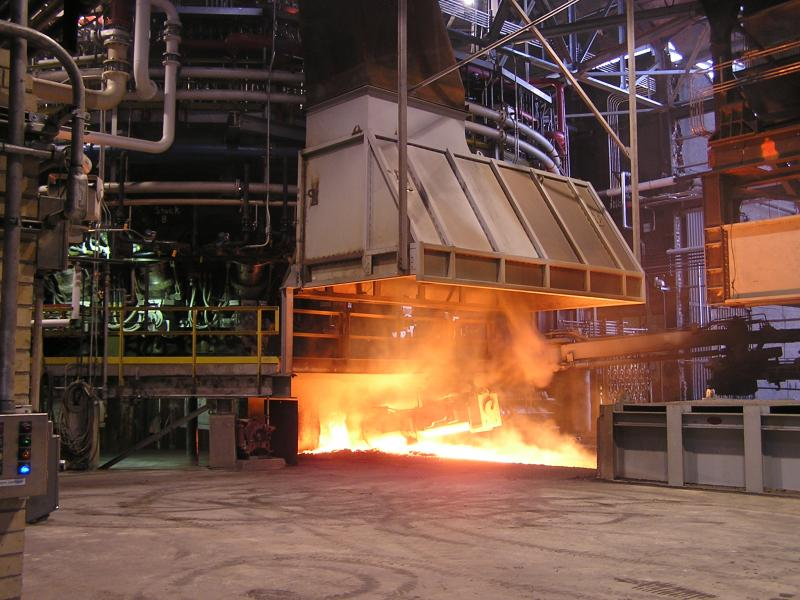 Making steel at the Severstal North America plant in Dearborn.