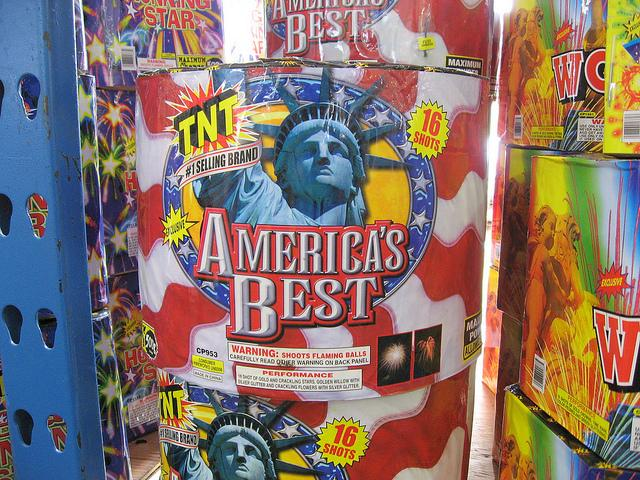 "Michiganders have to cross state lines to find fireworks like ""America's Best"" (warning: shoots flaming balls)."