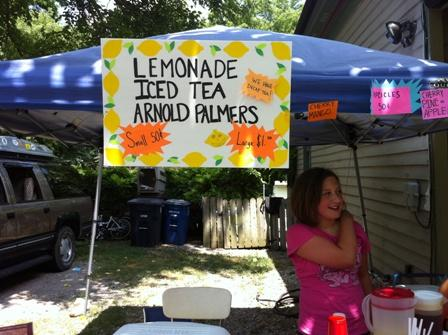 The recession has taken its toll on the neighborhood lemonade stand.