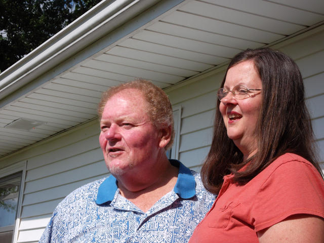 Wayne and Sue Groth used to live near Talmadge Creek, where the oil spill occurred last summer. They eventually sold their home to the energy company, Enbridge.