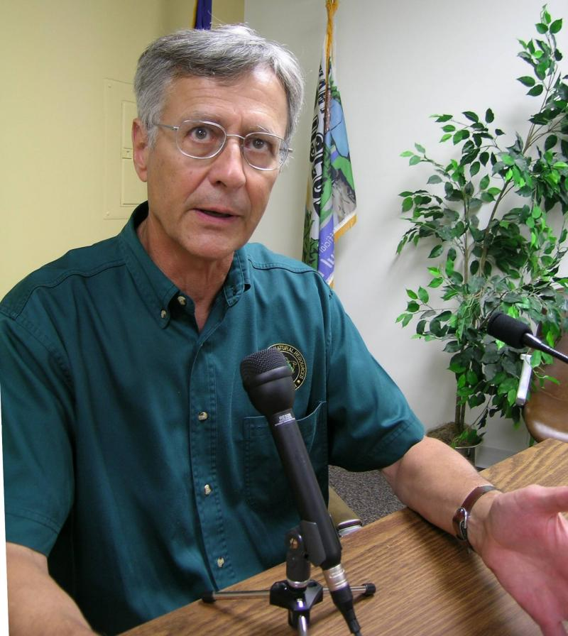 A biologist at the Michigan Department of Resources Alpena Fisheries Research Station explains there is not enough food in Lake Huron for the 1.4-million Chinook the agency normally releases.