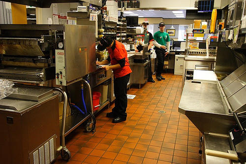 Many teens work their first job in a fast food venue