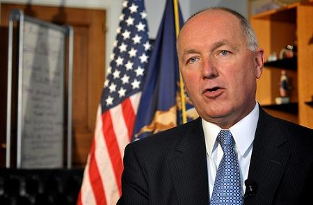 Former Republican West Michigan Congressman Pete Hoekstra (pictured) will be endorsed later today by Michigan Republican Governor Rick Snyder.