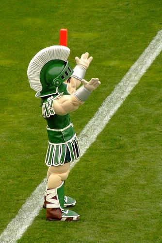 Celebrating an MSU touchdown