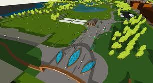 Artist's conception of possible changes to a portion of the Red Cedar golf course.