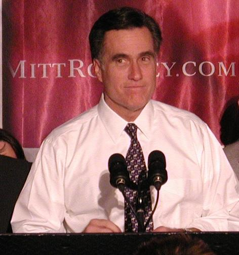 Mitt Romney celebrating his win in the 2008 Michigan Republican primary