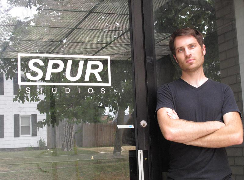 James Marks, SPUR Studios founder, in front of the building on Railroad Street in Ypsilanti