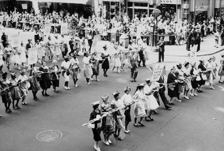 Participants in the 1960 Labor Day parade in New York. 