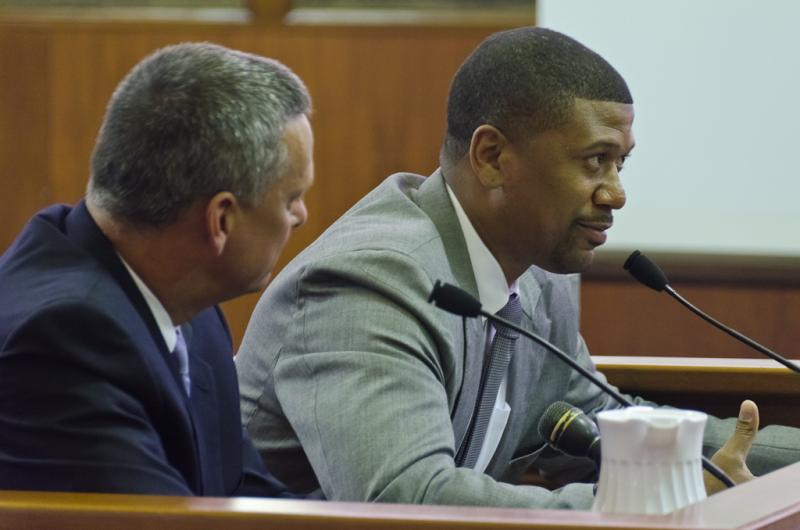 Jalen Rose testifies in Lansing today.