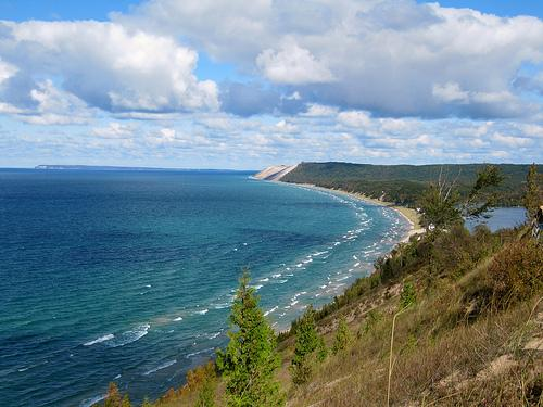 Part of the shoreline in Sleeping Bear Dunes National Lakeshore.