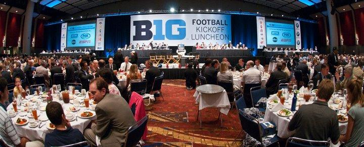 At the Big Ten Football Kickoff Luncheon. The Big Ten Conference now includes twelve schools.