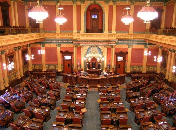 The Michigan House of Representatives voted 55-53 to stop schools from automatically deducting union dues from employees' paychecks.