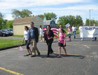 U.S. Representative Gary Peters (D-Oakland) at the Waterford Memorial Day Parade.