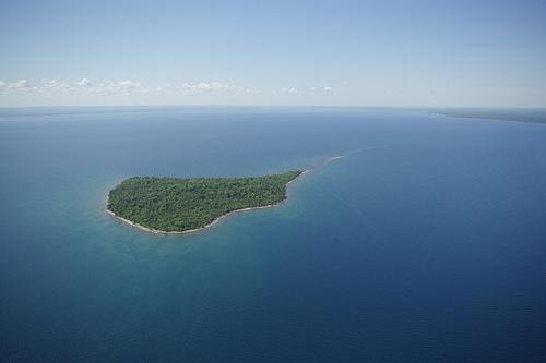 Rabbit Island lies about three miles east of the Keweenaw Peninsula in Michigan's Upper Peninsula.
